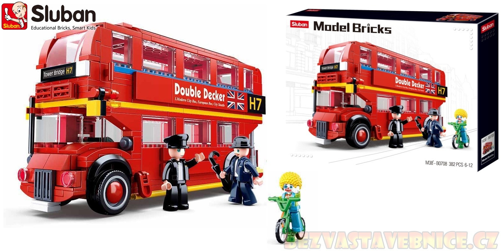 SLUBAN Město Model Bricks - Double Decker
