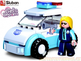 SLUBAN Girls Dream Holidays - Policistka s vozem
