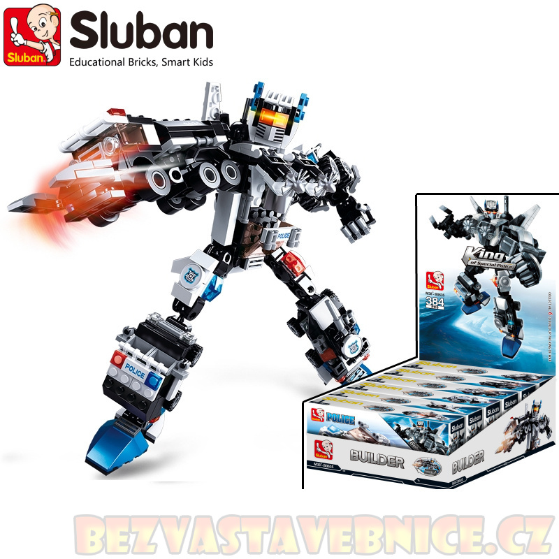 SLUBAN Roboti Kings 6v1 - King of Police