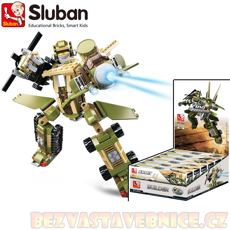 SLUBAN Roboti Kings 6v1 - King of Army