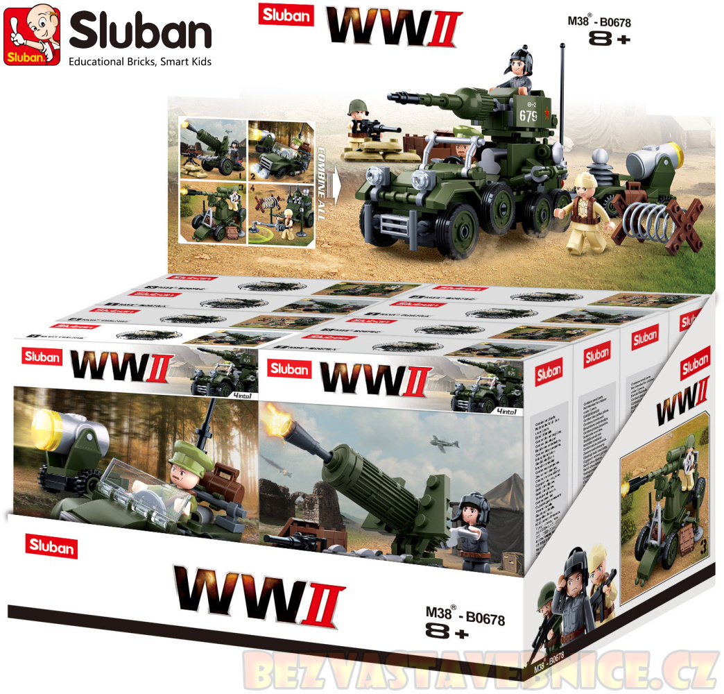 SLUBAN WW2 4v1 - Display 4druhy / 8ks